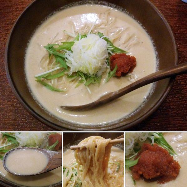 「豆乳明太チーズの担々麺(限定)  1100円」@森下の小粋な長屋ラーメン 熊八の写真