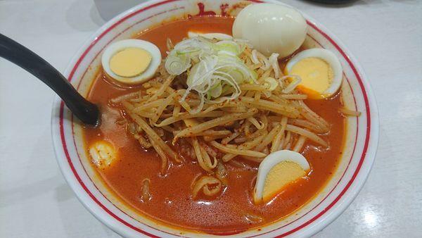 「味噌卵麺 880円」@蒙古タンメン 中本 上板橋本店の写真