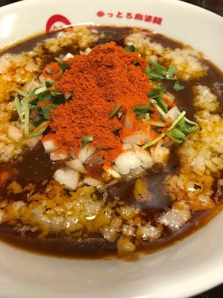 「背脂咖哩麻婆麺(レベル3)850円」@辛っとろ麻婆麺 あかずきんの写真