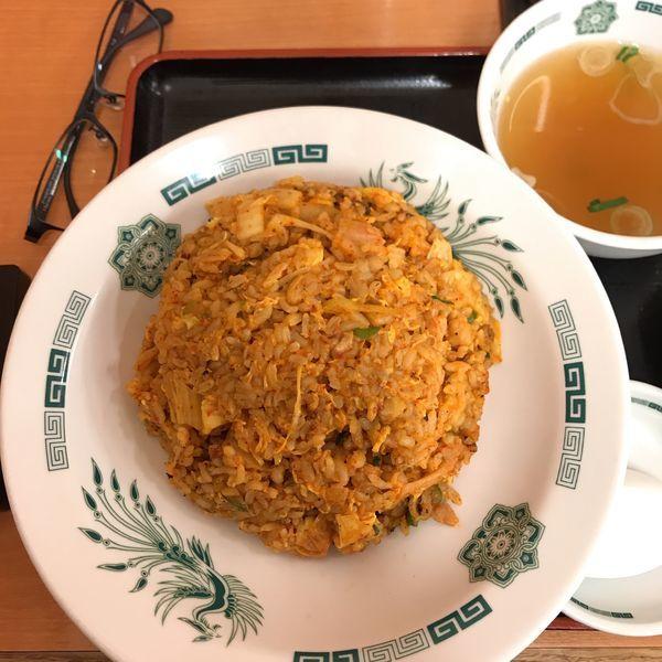 「キムチチャーハン」@熱烈中華食堂 日高屋 立川曙町店の写真