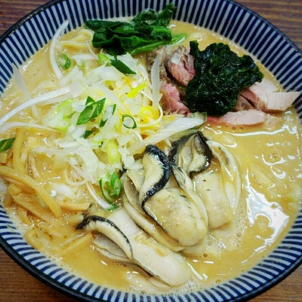 「【Special】カキ味噌拉麺(〆のドボンライス付)千二百円」@良温(Ra-on)の写真