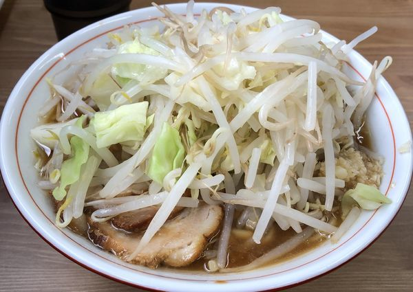 「ラーメン・野菜増し+ウズラの味玉(¥750+¥100)」@ラーメン幸豚の写真