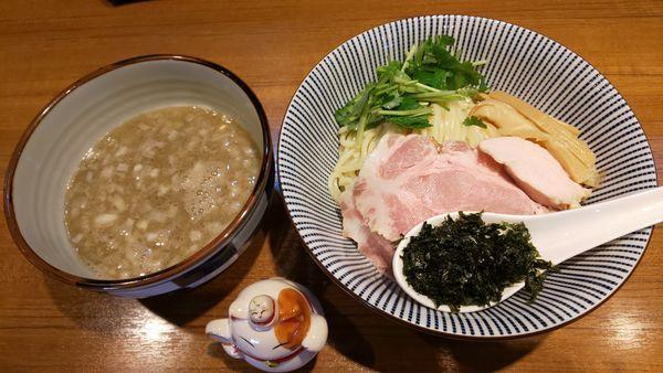 「特濃イカ煮干つけそば 大盛り」@寿製麺よしかわ 川越店の写真