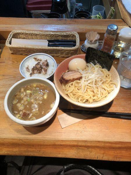 「味玉つけ麺 中盛り」@らーめん・つけ麺 我家の写真