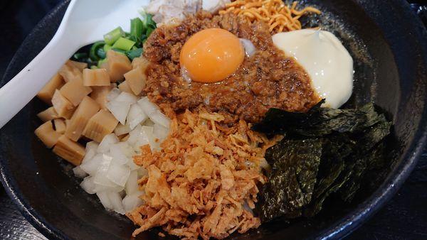 「煮干まぜそば(限定)」@煮干しらーめん専門店 麺屋 晴の写真