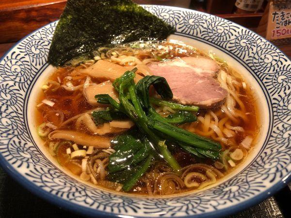 「中華そばこってり太麺」@中華そば・つけそば専門店 一丸の写真