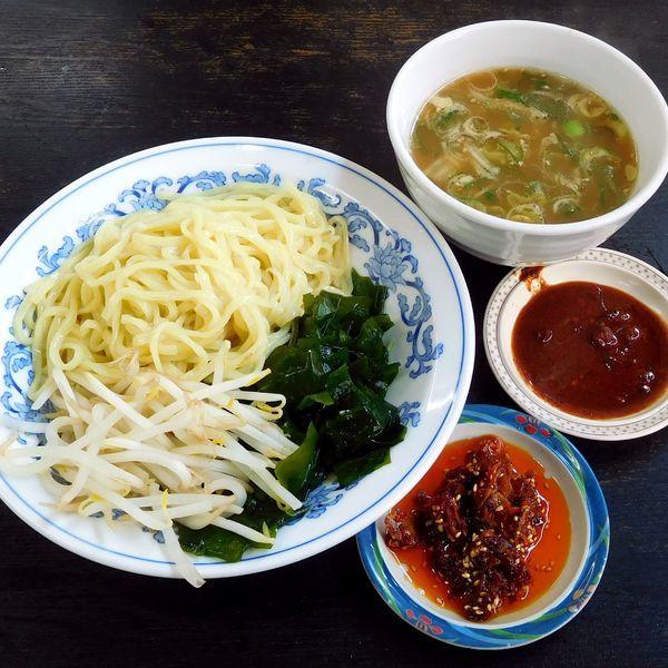 「つけ麺(醤油 500円)」@九州ラーメン 桜島 東町店の写真