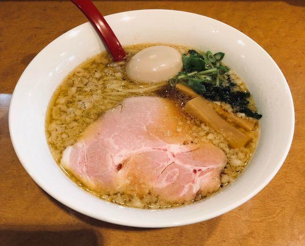 「背脂醤油(¥830)+玉子(¥100)」@麺屋 紅の写真