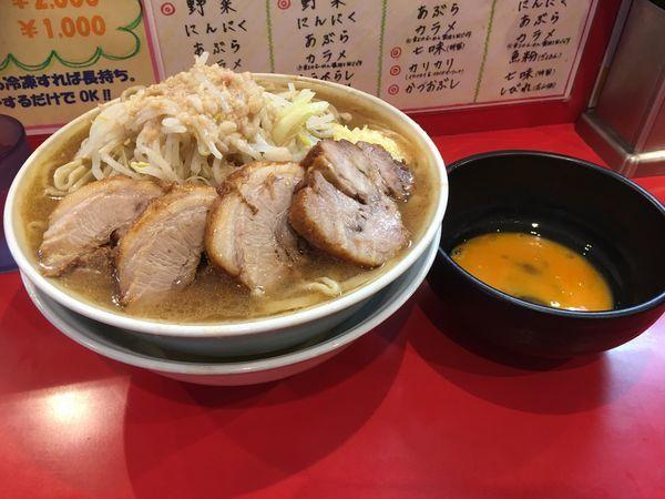「大ラーメン(500)+豚2枚+生卵」@麺屋 桐龍の写真