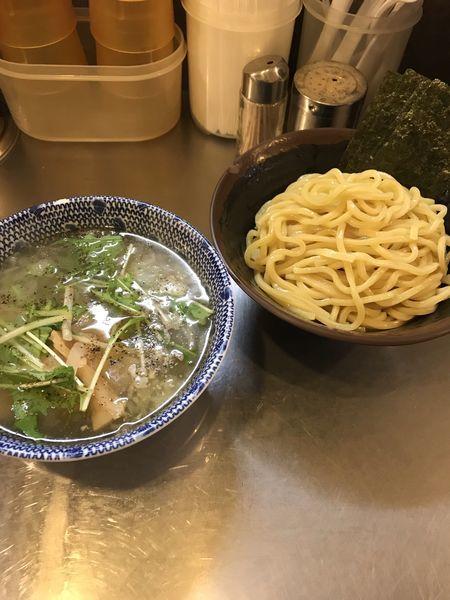 「塩つけ麺」@めん屋桔梗 銀座店の写真