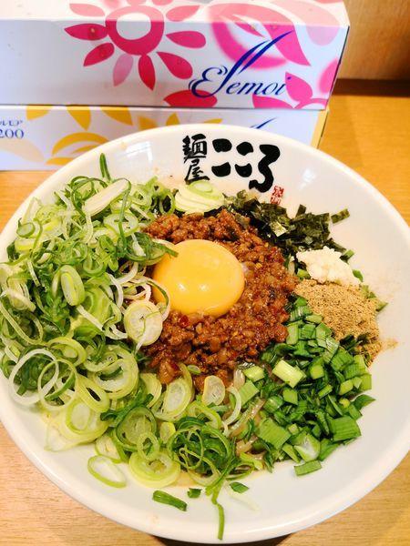 「台湾まぜそば+九条ネギ」@麺屋こころ 溝の口店の写真
