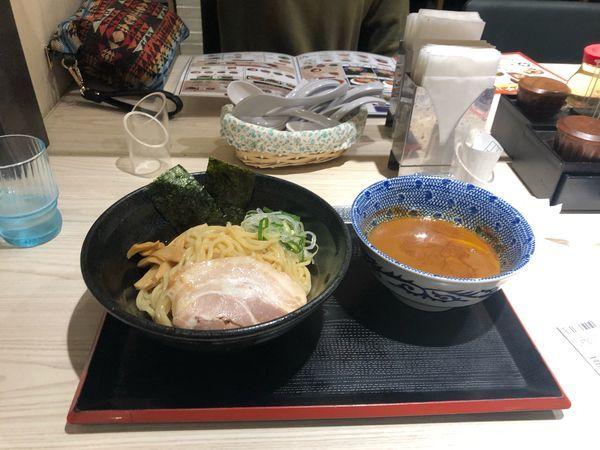 「鶏白湯つけ麺  950円」@鶏白湯らーめん 自由が丘蔭山 イオンモールむさし村山店の写真