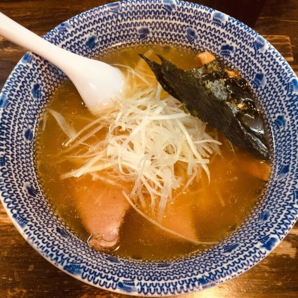 「塩ラーメン 半麺 730」@麺心 國もとの写真