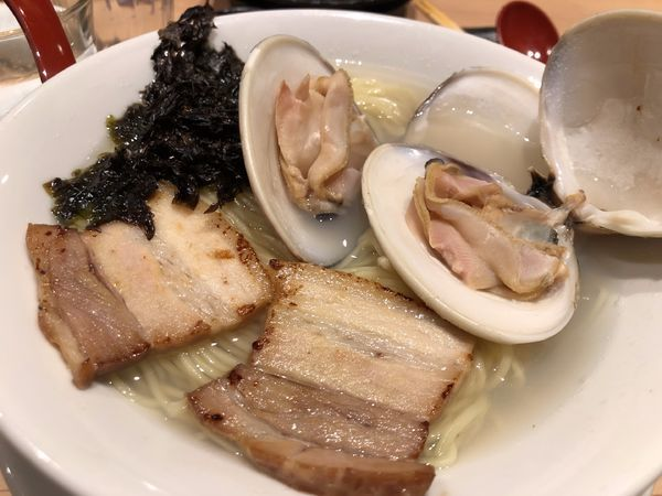 「【限定】蛤の潮らーめん」@京紫灯花繚乱の写真