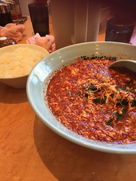 「タンタン麺 ニラ増し 大辛+ライス」@元祖ニュータンタンメン本舗 京町店の写真