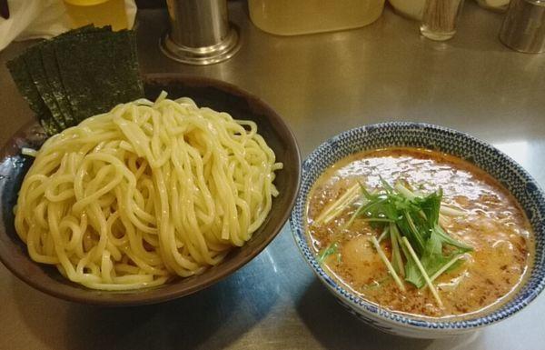 「辛つけ麺」@めん屋桔梗 銀座店の写真
