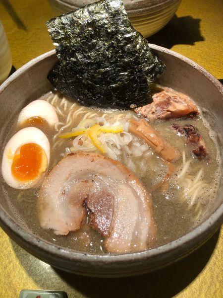 「特製煮干し塩そば」@麺屋 音の写真