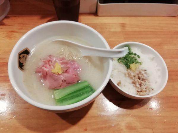 「真鯛ラーメン雑炊セット」@真鯛らーめん 麺魚の写真