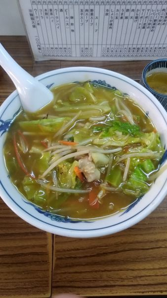 「カレーチャンポン 600円」@中華料理 一力家の写真