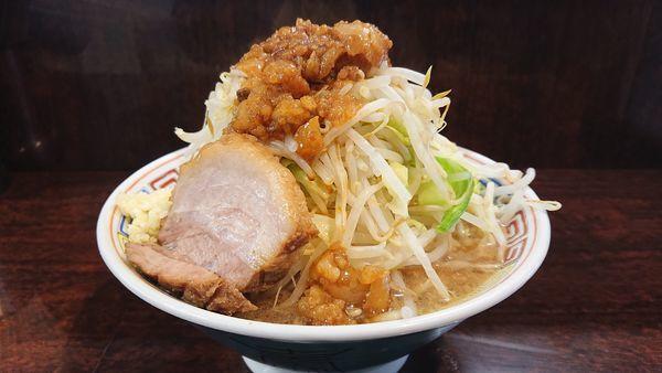 「ミニラーメン 野菜ニンニクアブラスコシマシ」@ラーメン二郎 めじろ台店の写真