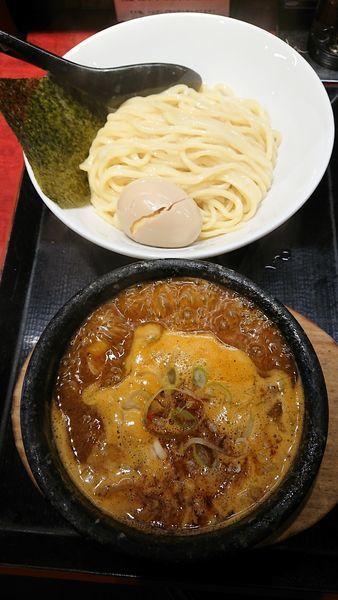 「辛つけ麺」@つけ麺屋 のぶなが 北口店の写真
