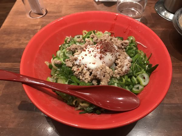 「山椒汁なし担々麺」@ばくだん屋 渋谷店の写真