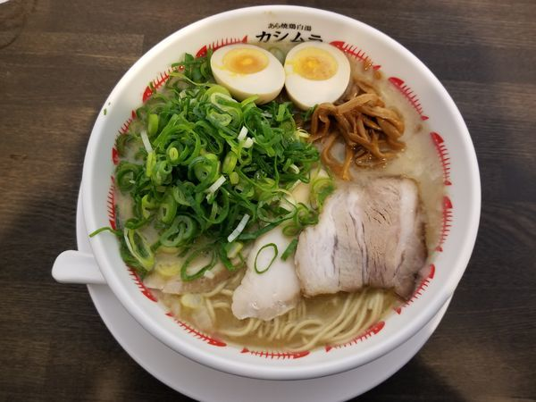 「濃厚煮玉子+九条ねぎ」@あら焼鶏白湯 カシムラの写真