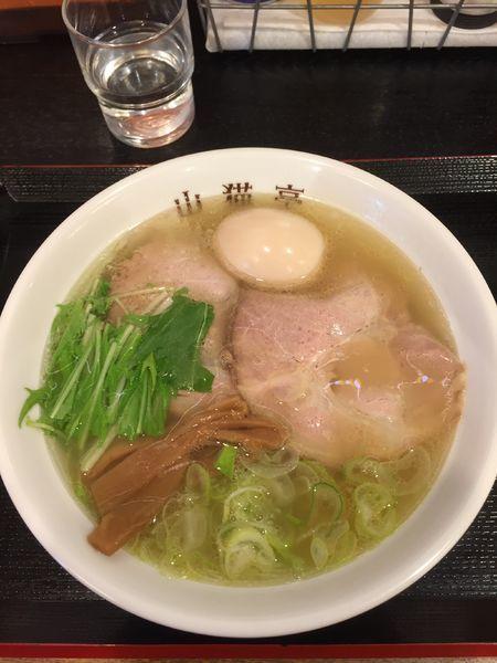 「香る塩+煮たまご ¥650+100」@らーめん山猫亭の写真
