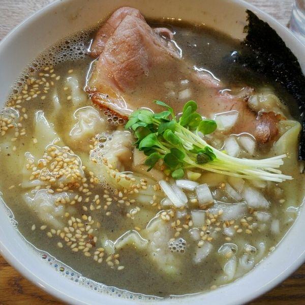 「煮干しワンタン麺 850円」@中華そば JUN-CHANの写真