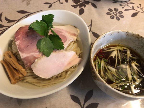 「三大地鶏出汁つけ麺」@小烏丸 ramen-laboの写真