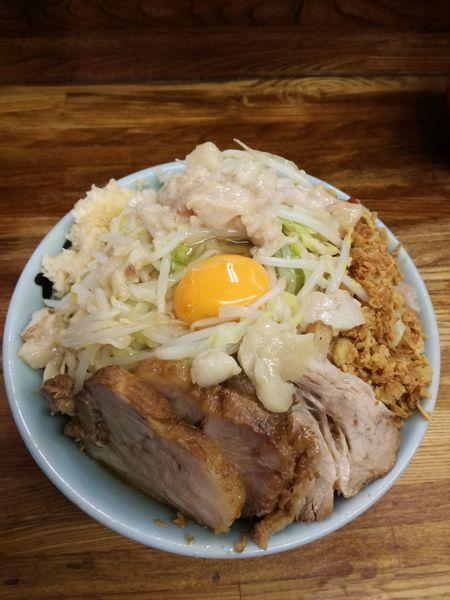 「小ラーメン:780円+汁なし:100円」@ラーメン二郎 新小金井街道店の写真