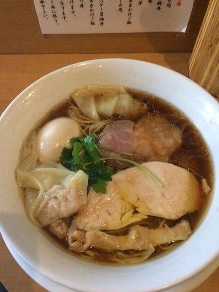 「特製鶏100醤油1000円」@中華そば 大井町 和渦の写真