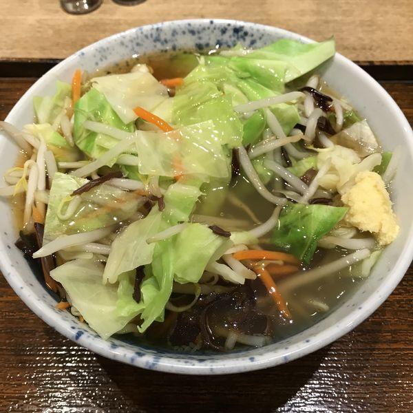 「【期間限定】たっぷり野菜あんかけそば(¥500)」@しぶそば 青葉台店の写真