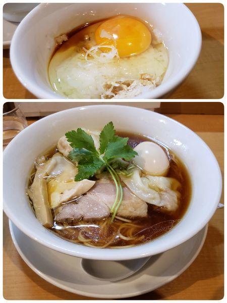 「特製鶏100醤油 ランチ丼10円」@中華そば 大井町 和渦の写真