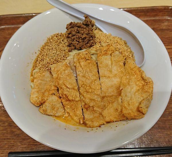 「汁なし排骨麺(972円)」@金ごま屋の写真