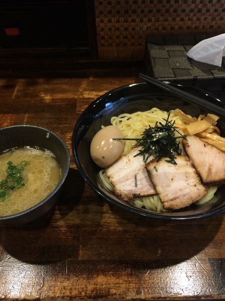 「全部乗せつけ麺1100円 大盛り無料」@麺屋ことぶきの写真