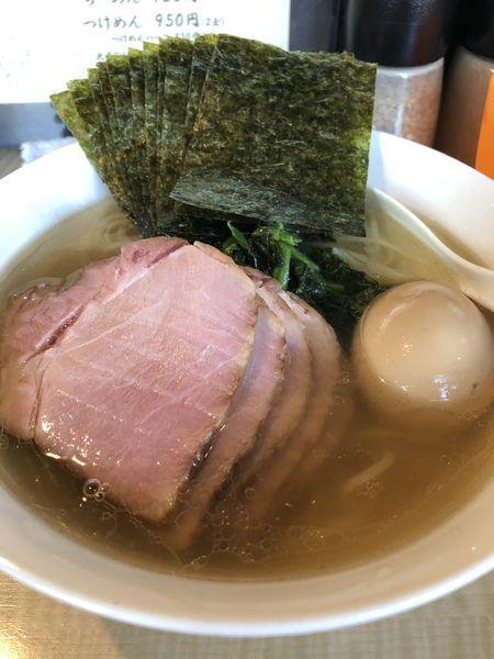 「塩らーめん+チャーシュー+味玉+海苔」@菜の写真