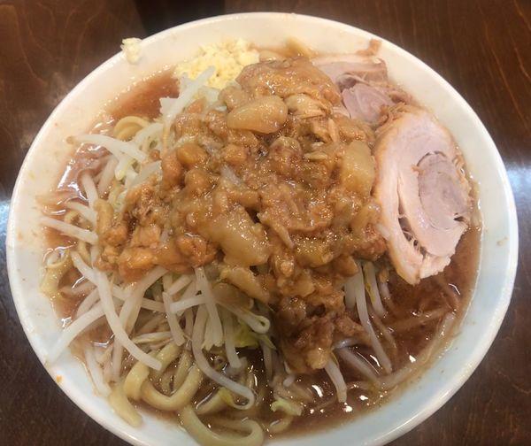 「小ラーメン 750円 (にんにく、あぶら)」@麺屋 歩夢の写真