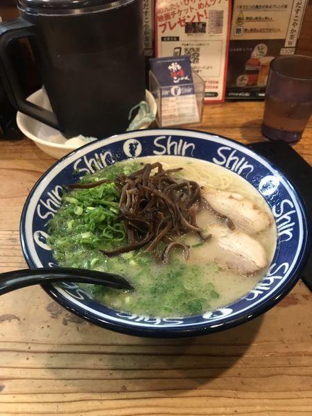 「ねぎらーめん」@博多らーめん ShinShin 天神本店の写真