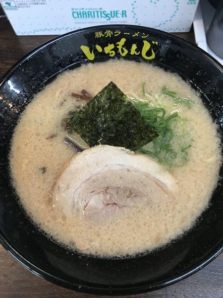 「醤油ラーメン+替玉(¥500+¥50)」@豚骨ラーメン いちもんじの写真
