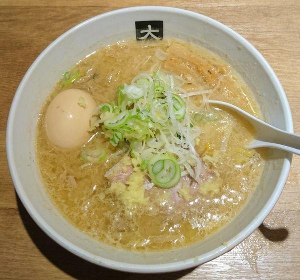 「味噌らーめん+煮たまご」@大島の写真
