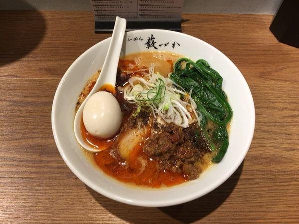 「味玉チャーシュー担担麺 麺大盛」@らーめん藪づかの写真