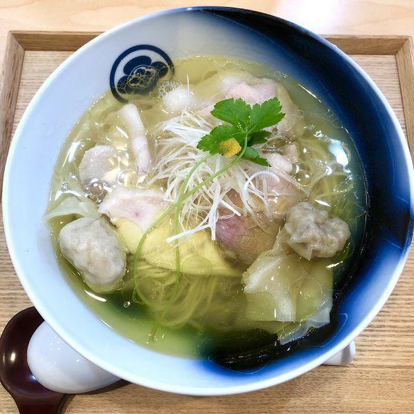 「わんたん入り塩らぁ麺 ¥1200」@らぁ麺 飯田商店の写真
