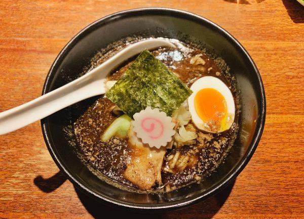 「焦がし味噌麺(ハーフサイズ)」@西麻布 五行の写真