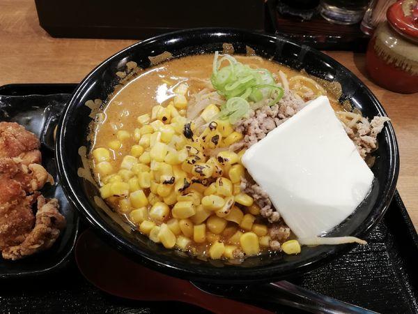 「炙りコーンバター百年味噌ラーメン」@マルキン本舗 東松山店の写真