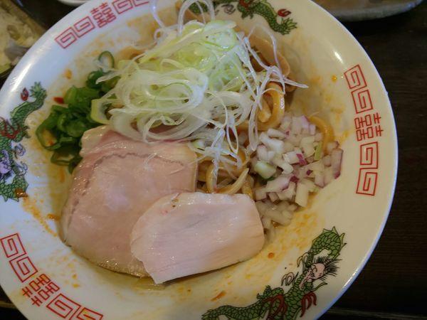 「辛味油そば」@立ち呑み居酒屋 金町製麺の写真