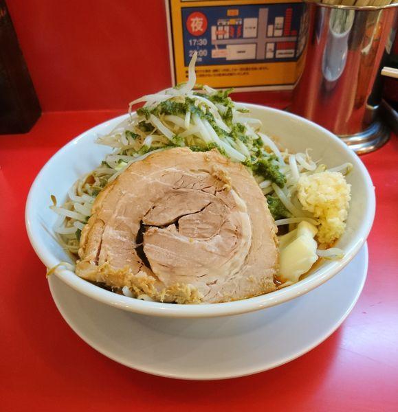 「トマトラーメン 300g ニンニク」@自家製麺 ダイサンの写真