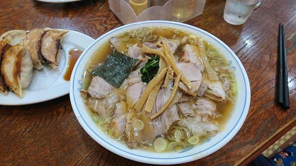 「チャーシュー麺+餃子」@ラーメン やひこの写真