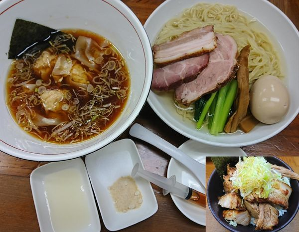「特製つけ麺¥1080+肉米¥150=¥1230」@らぁめん 夢の写真