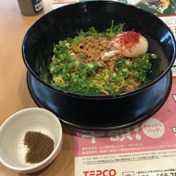 「広島旨辛汁なし担担麺(¥699)※」@ガスト 大森店の写真